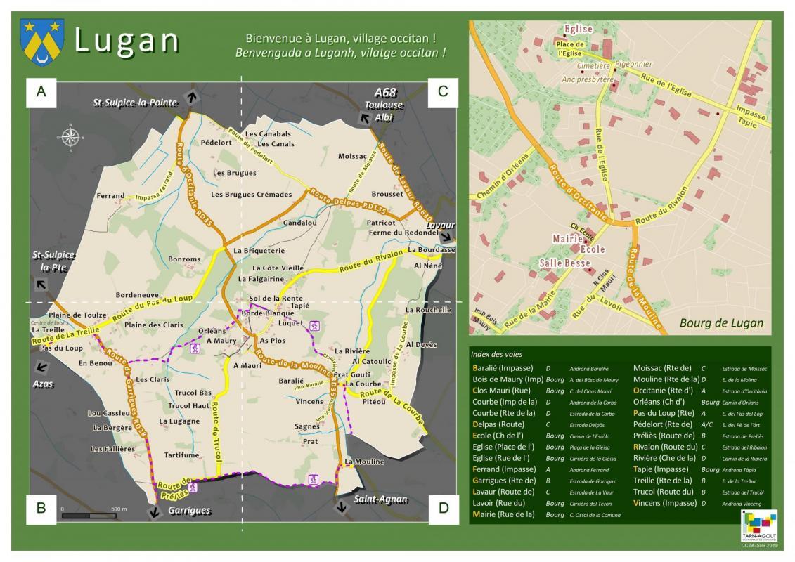 Plan commune lugan